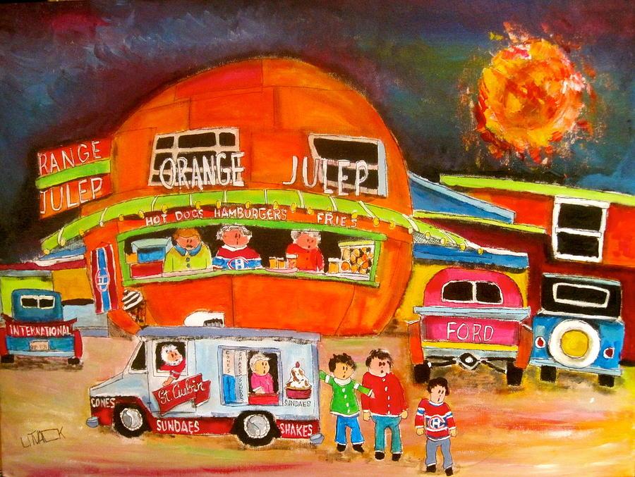 Orange Julep Painting - Orange Julep Competition by Michael Litvack