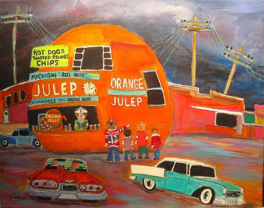 Drive-ins Painting - Orange Julep Icon by Michael Litvack