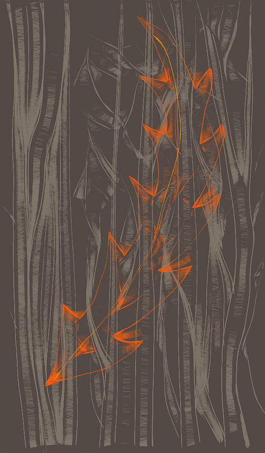 Orange Digital Art - Orange Leaf by Lori Ulatowski
