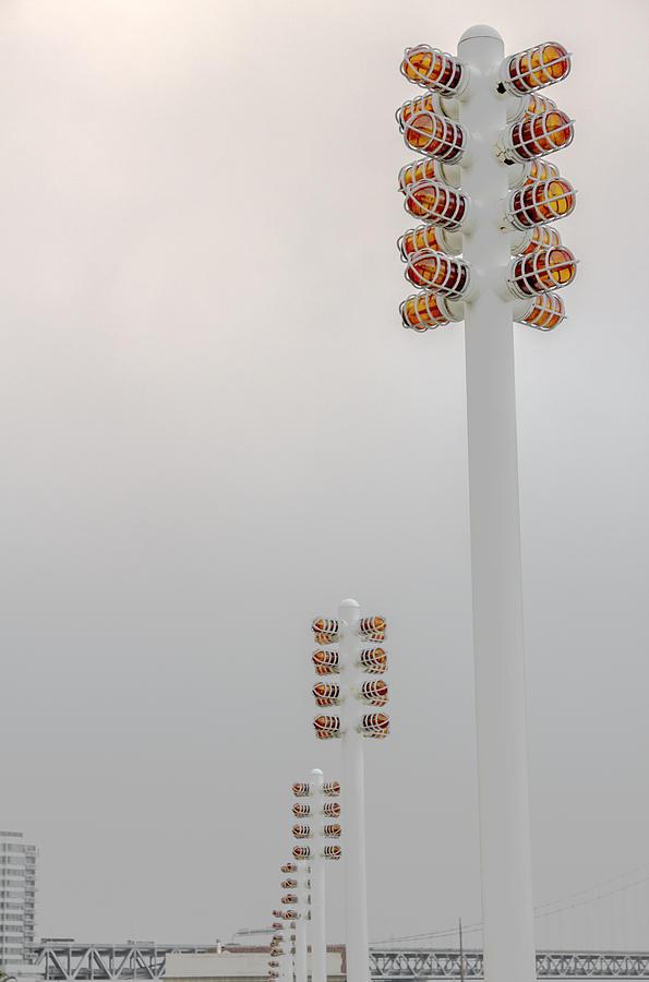 Lights Photograph - Orange Lights And Fog by Studio Janney