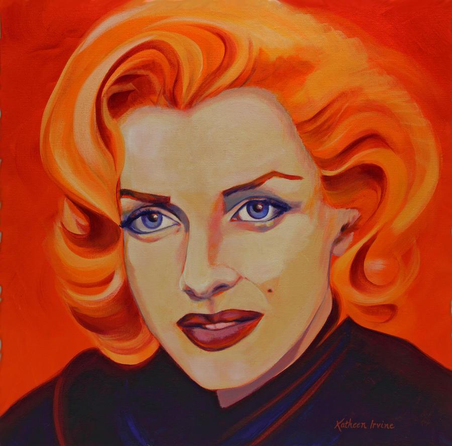 Orange Marilyn by Kathleen Irvine