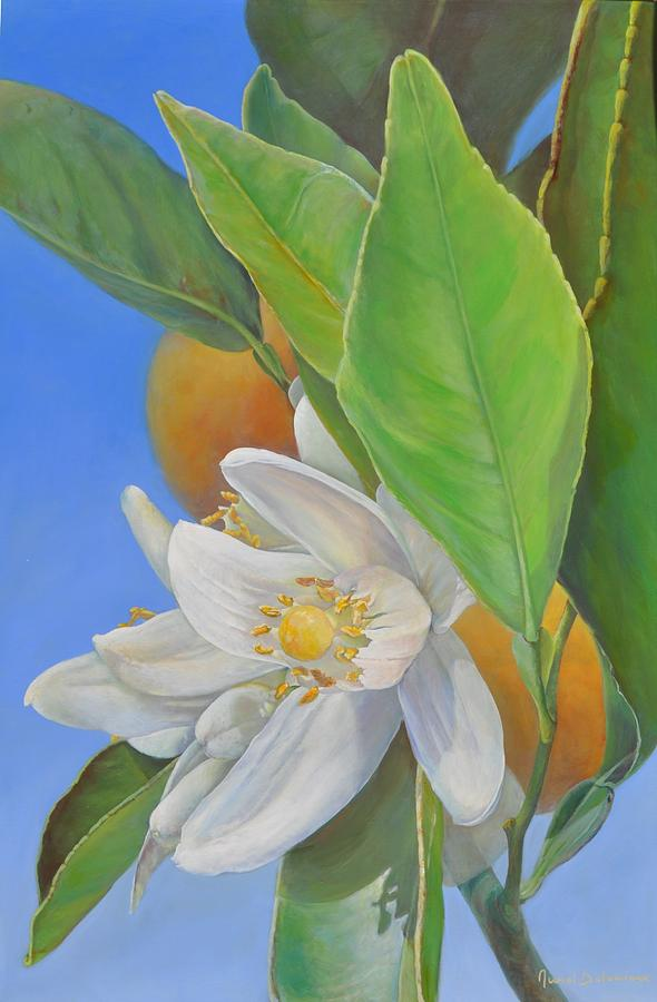 Acrylic Painting - Orange Naissante by Muriel Dolemieux