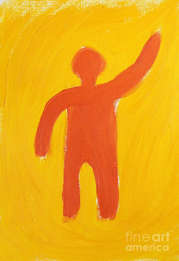 Prometheus Painting - Orange Person by Igor Kislev