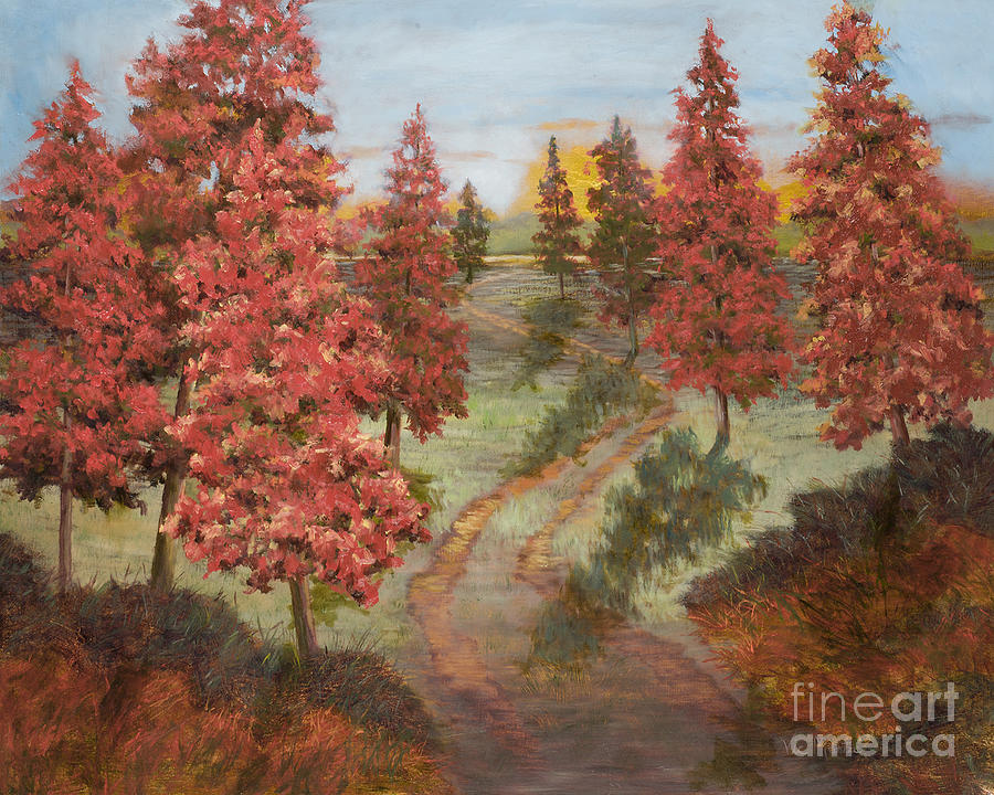 Orange Pines by Vic  Mastis