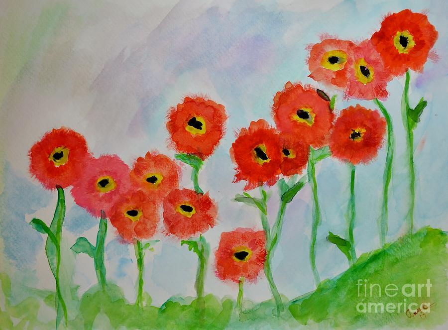 Orange Poppies by Anne Clark