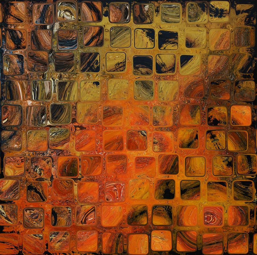 Orange Abstract Digital Art - Orange Sea  by Andrada Anghel