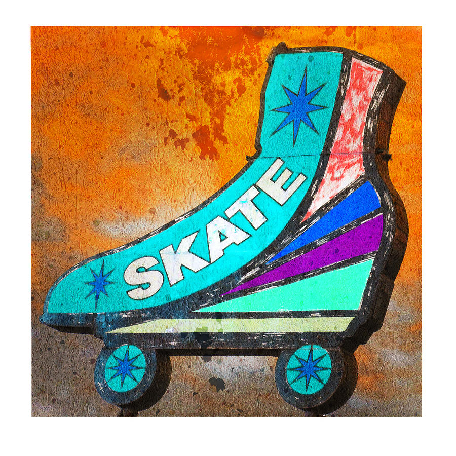 Roller Skate Photograph - Orange Skate by Gail Lawnicki