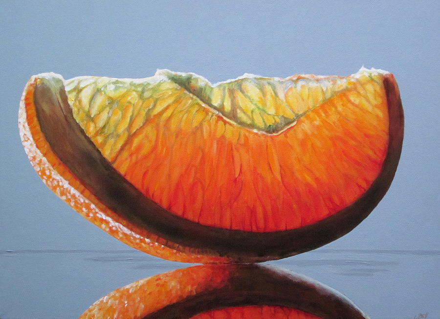 Orange Slice Painting By Lillian Bell