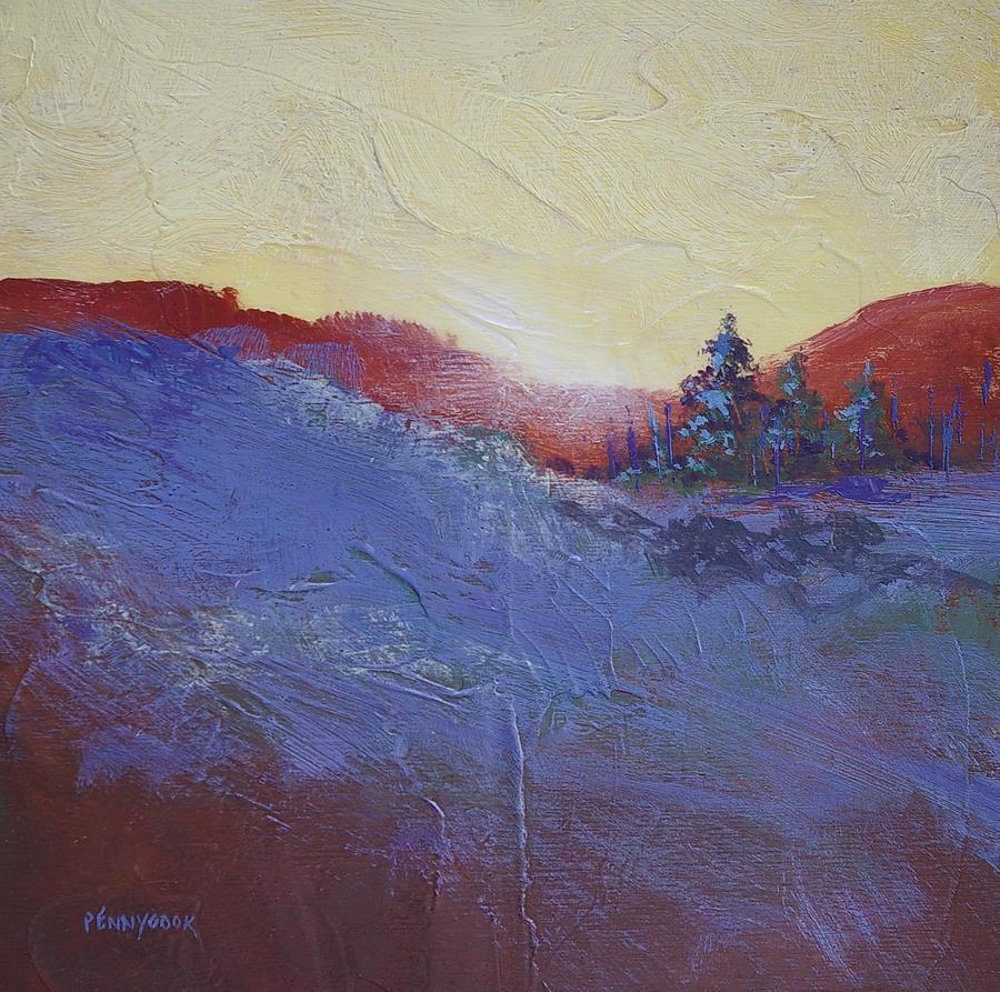 Landscape Painting - Orange Stripe by Bob Pennycook