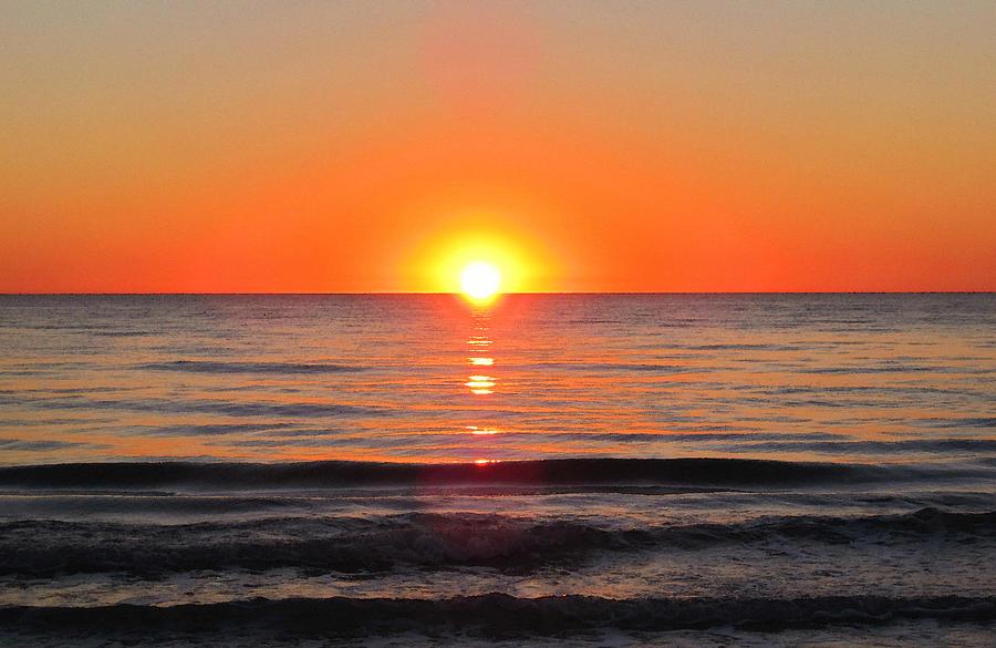 Orange Sunset Painting By Sharon Cummings