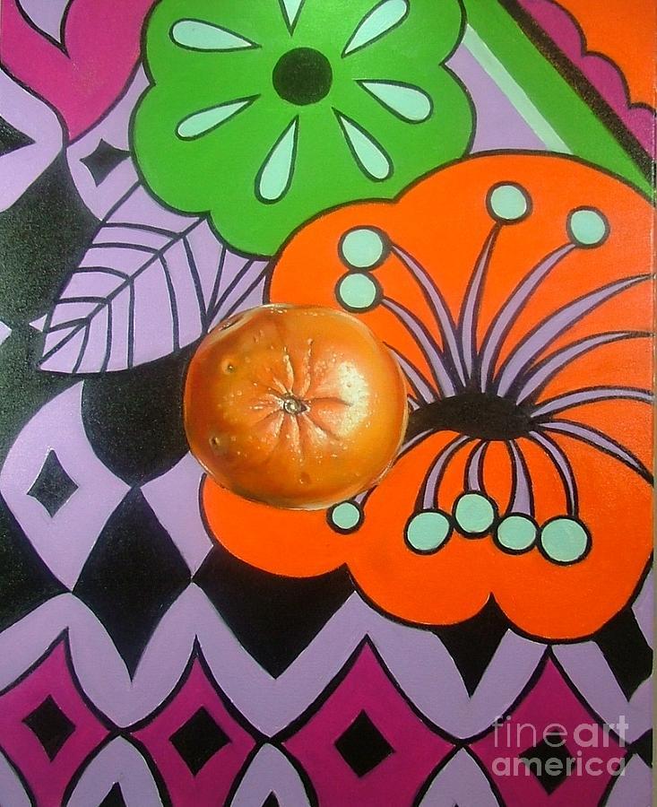 Fruit Painting - orange Sunshine by Shelley Laffal