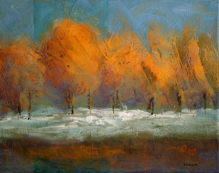 Trees Painting - Orange Trees by Bob Pennycook