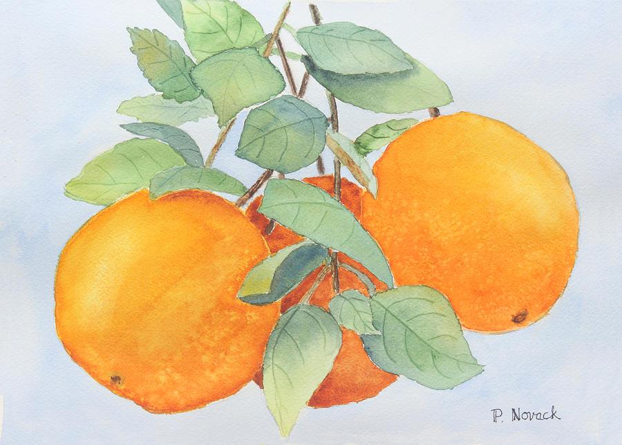 Orange Painting - Orange Trio by Patricia Novack
