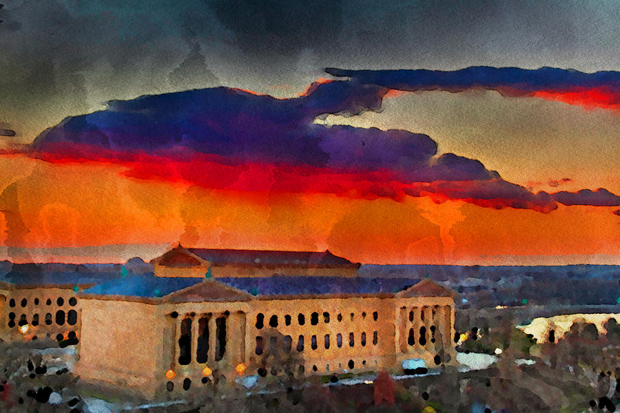 Art Museum Photograph - Orange Upon The Art Museum by Alice Gipson