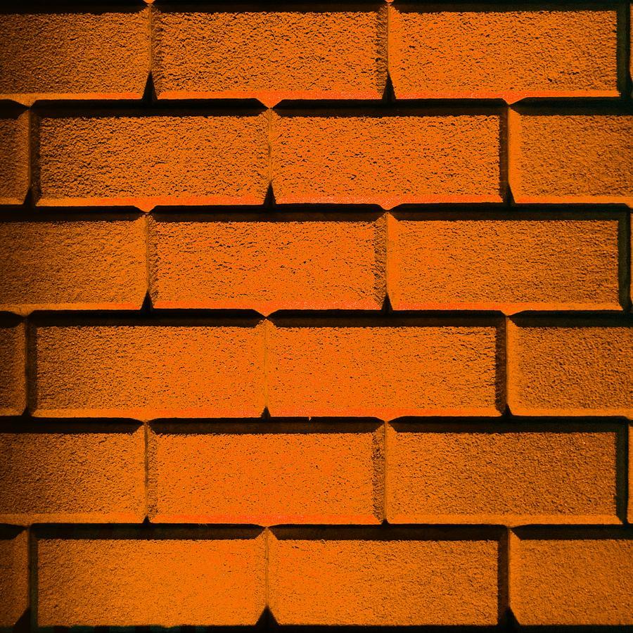 Orange Photograph - Orange Wall by Semmick Photo