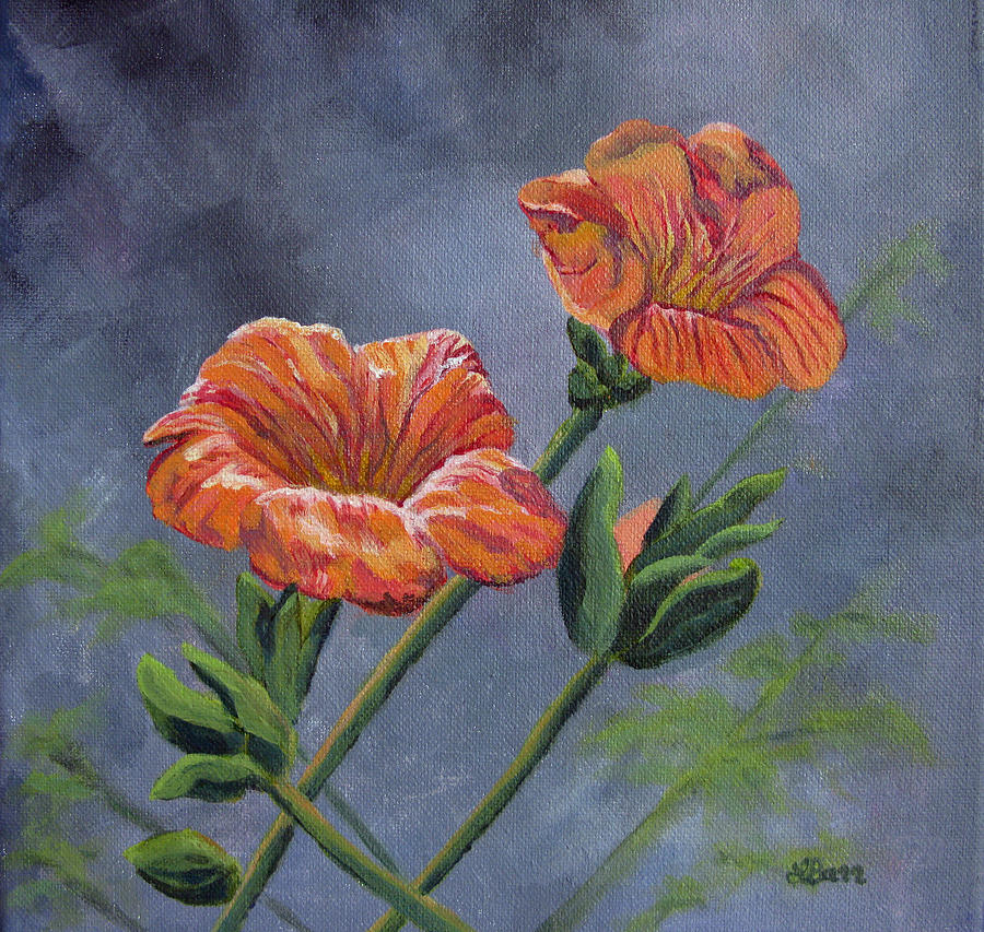 Flowers Painting - Orange You Ready For Spring by Lisa Barr