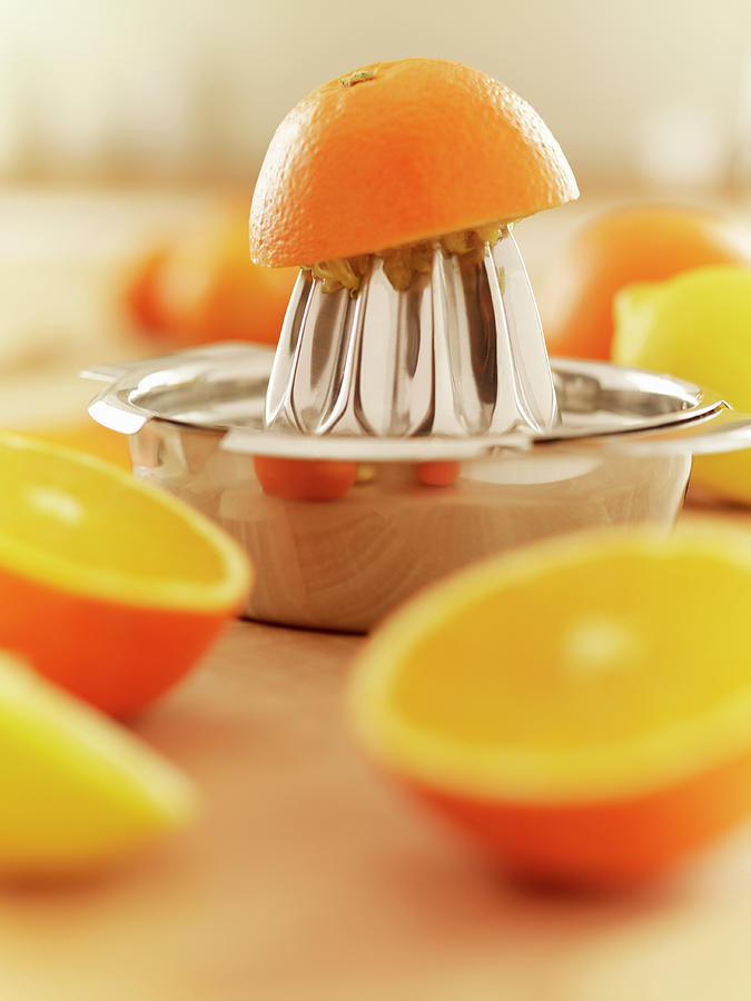 Oranges And Juicer Photograph by Adam Gault