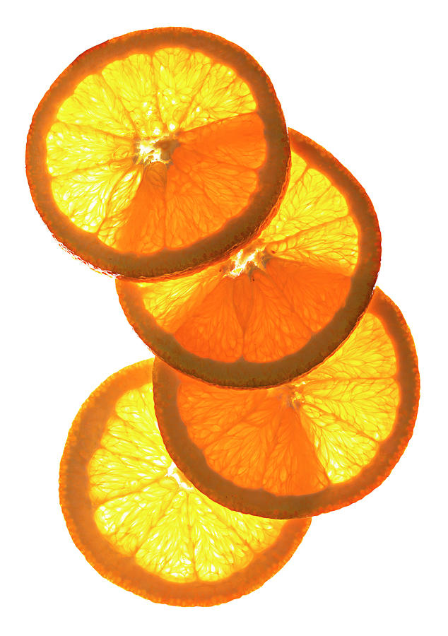 Oranges On White Photograph by Jack Andersen