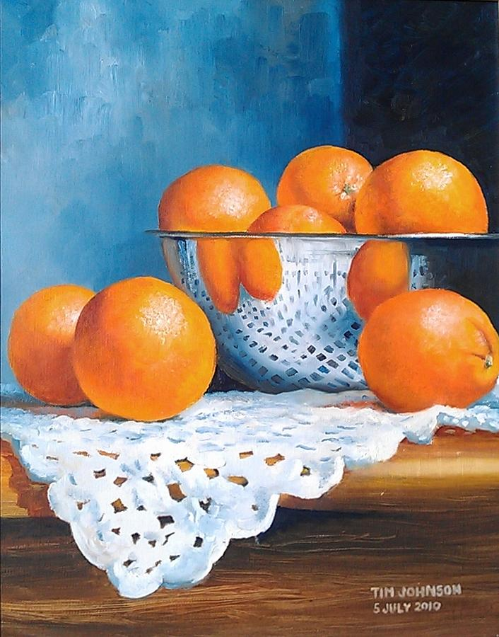 Still Life Painting - Oranges by Tim Johnson