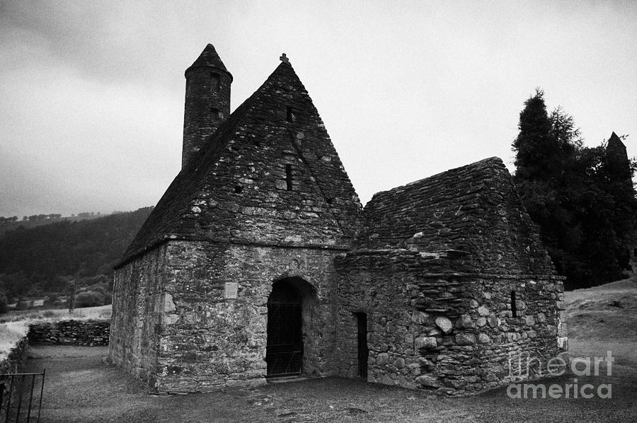 Ireland Photograph - Oratory Known As St Kevins Kitchen Glendalough Monastery County Wicklow Republic Of Ireland by Joe Fox