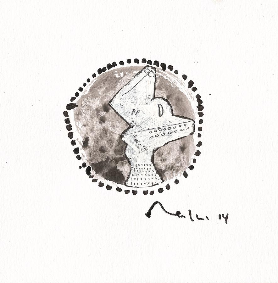 Gouache Drawing - Orbis No. 13  by Mark M  Mellon