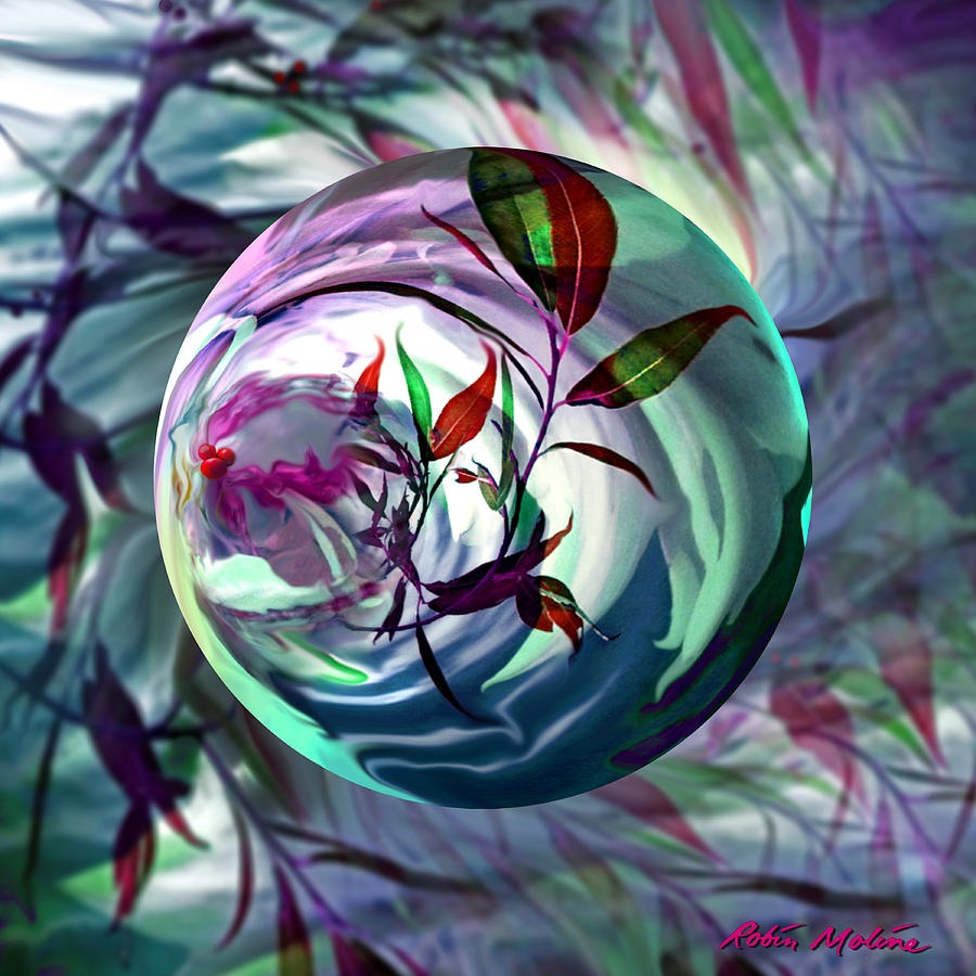 Cranberries Digital Art - Orbiting Cranberry Dreams by Robin Moline