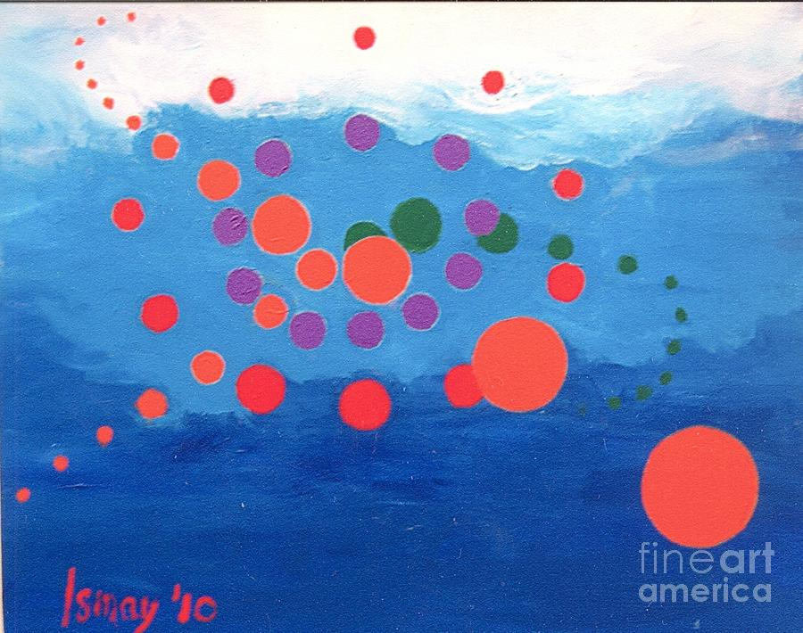 Orbs Painting - Orbs Under Water by Rod Ismay