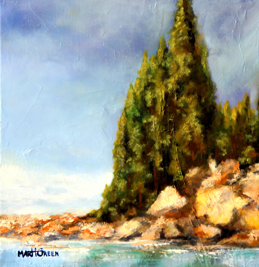 Orcas Island Painting - Orcas Island by Marti Green