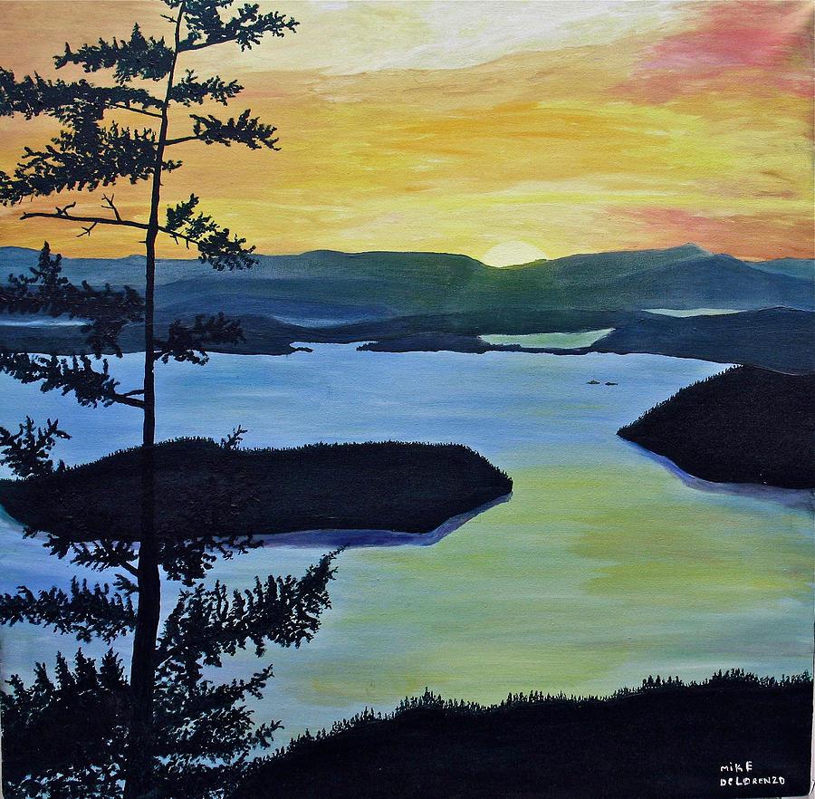 Orcas Island Painting - Orcas Island by Mike De Lorenzo