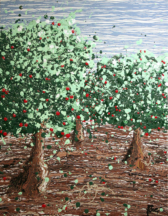 Abstract Painting - Orchard 4 by Ric Bascobert
