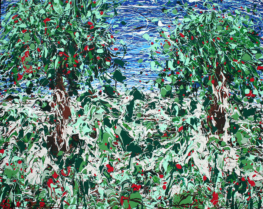 Abstract Painting - Orchard Number Five by Ric Bascobert