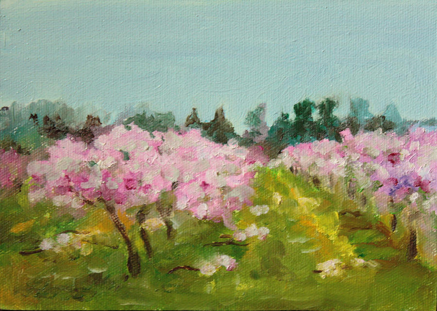 Landscape Painting - Orchard by Sarah Lynch