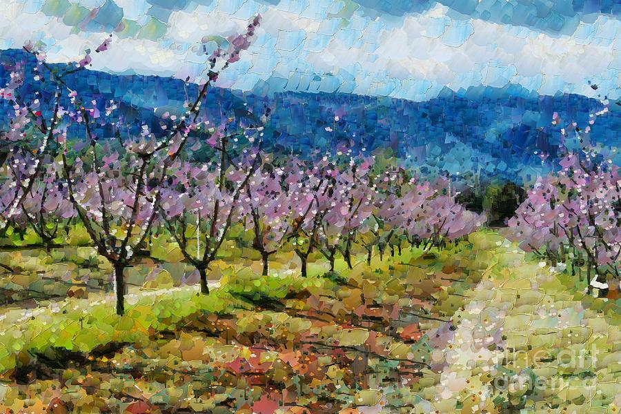 Orchard Digital Art - Orchard Views by Fran Woods