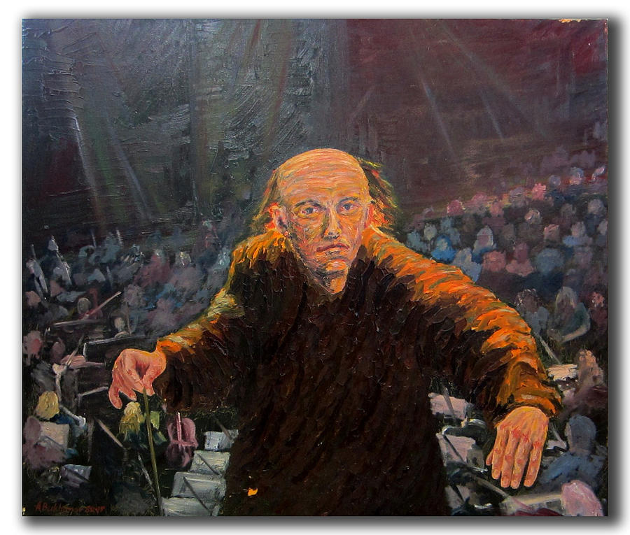 Man At Work Painting - Orchestra Conductor by Alexander Bukhanov