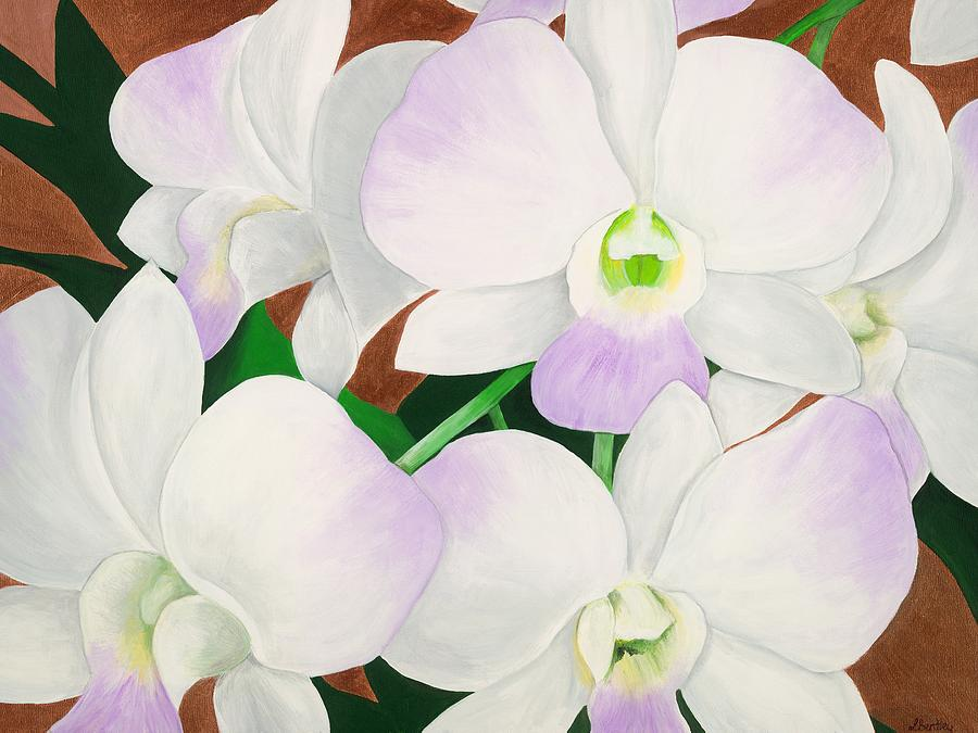 Artist Painting - Orchid Splendor Painting by Lisa Bentley