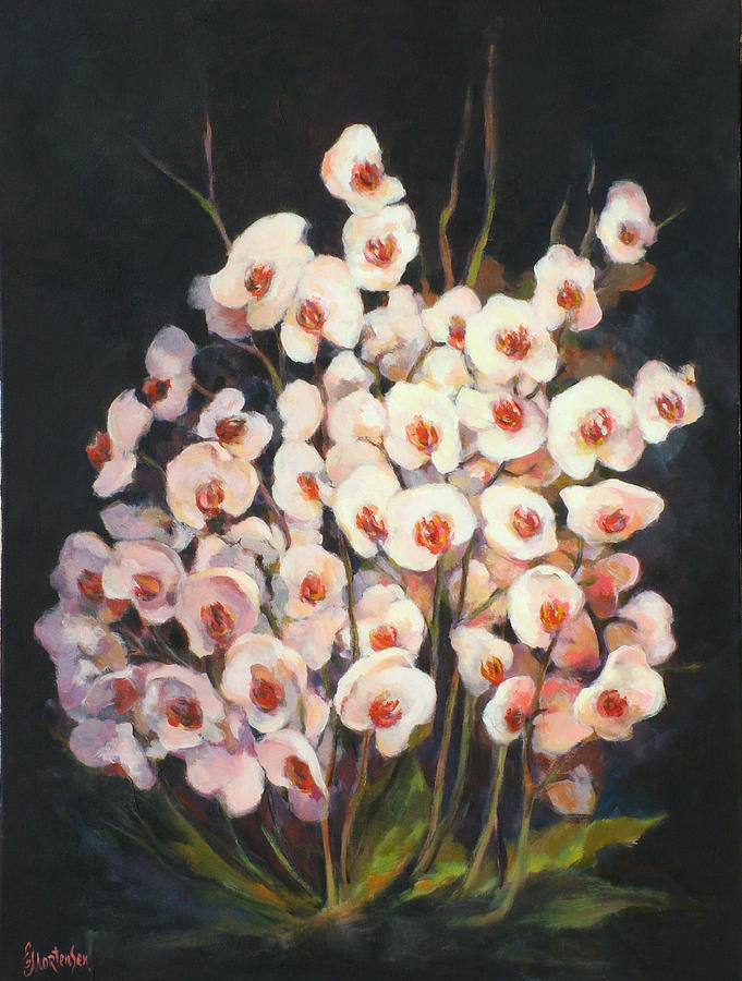 Orchid Painting - Orchids 2010 by Ekaterina Mortensen