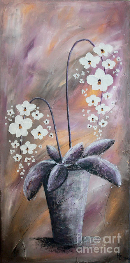Flowers Painting - Orchids by Home Art
