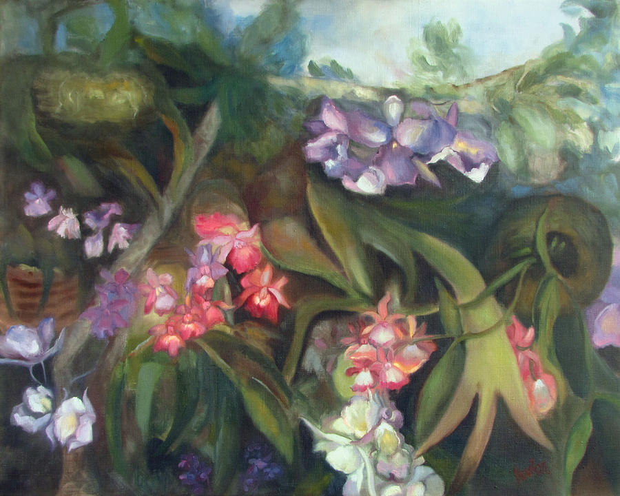 Orchid Painting - Orchids I by Susan Hanlon