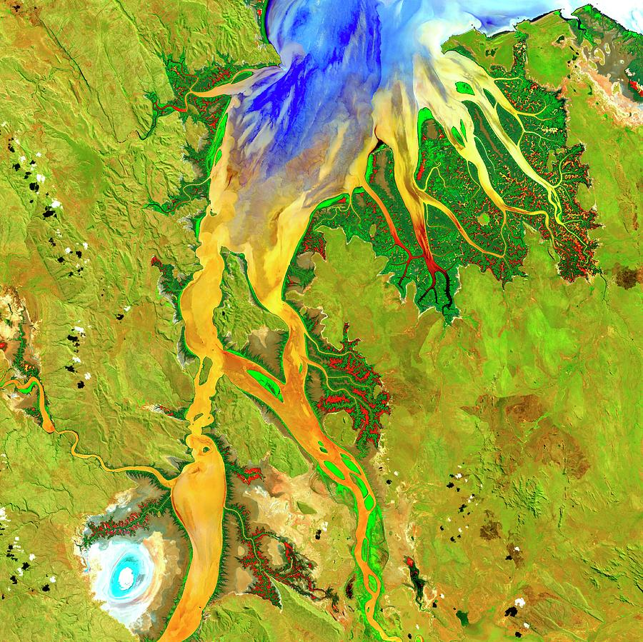 Estuary Photograph - Ord River Estuary by Us Geological Survey/science Photo Library