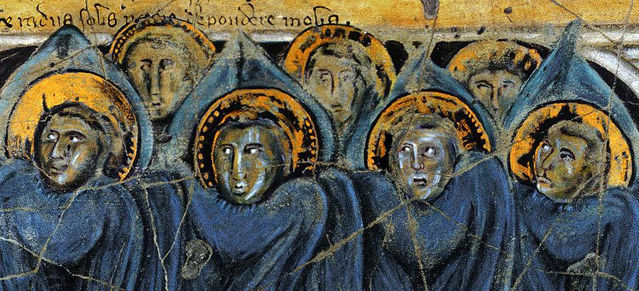 Angels Painting - Order Of Cherubim Angels - Study No. 2 by Steve Bogdanoff