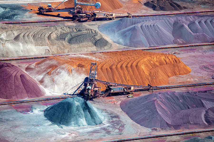 Ore And Conveyor Belt Aerial Photograph by Opla