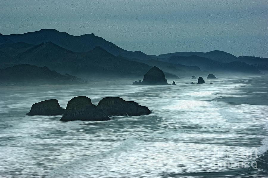 Rocks Photograph - Oregon Cannon Beach by Nur Roy