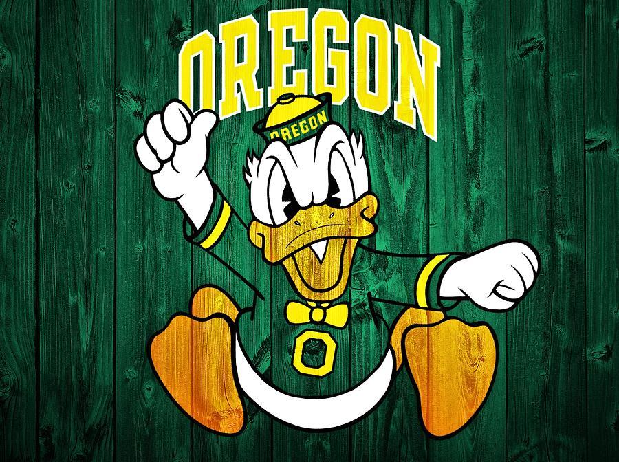 Oregon Ducks Barn Door Digital Art