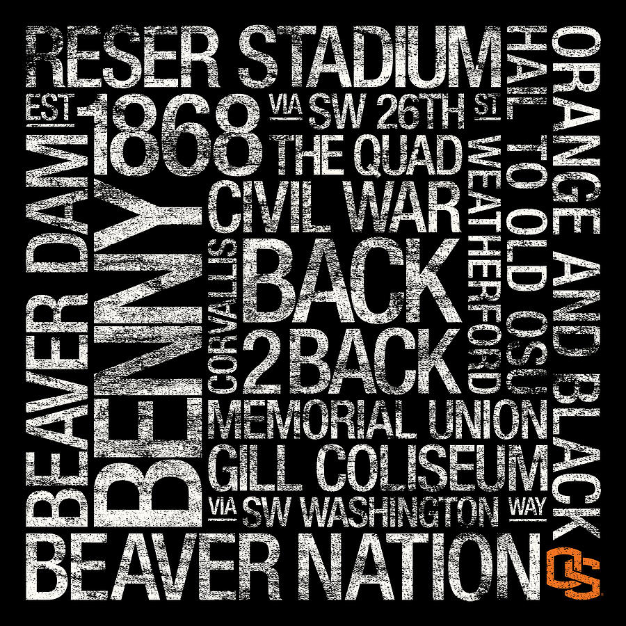 Photo Photograph - Oregon State College Colors Subway Art by Replay Photos