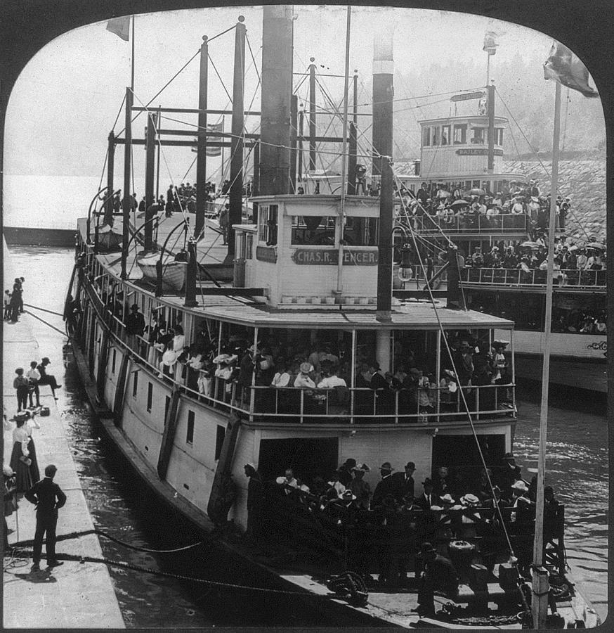 1906 Painting - Oregon Steamboat, C1906 by Granger