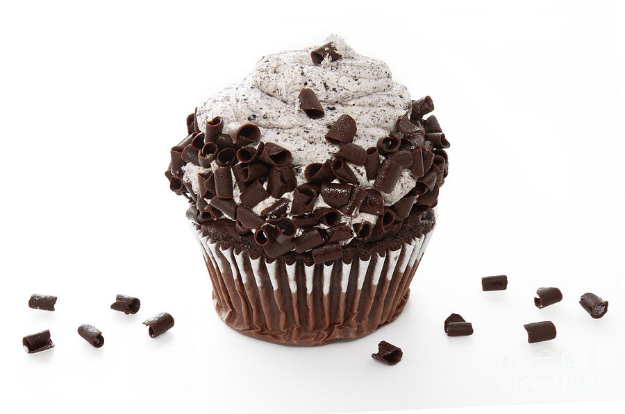 Chocolate Photograph - Oreo Cookie Cupcake by Andee Design