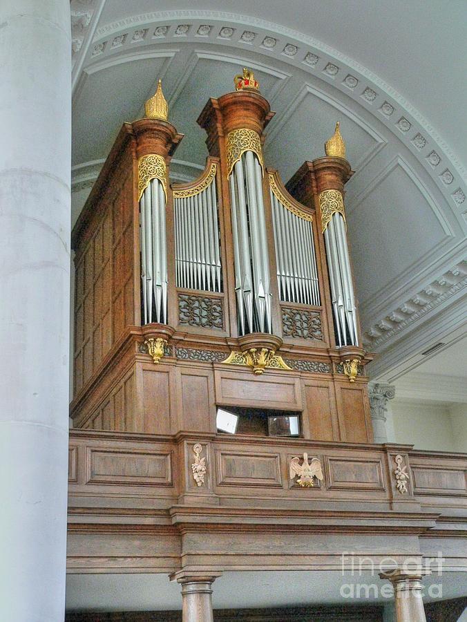 Winston Churchill Photograph - Organ At Westminster by David Bearden