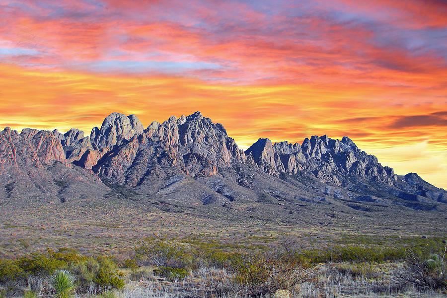 Mountain Sunrises Photograph - Organ Mountain Sunrise Most Viewed  by Jack Pumphrey
