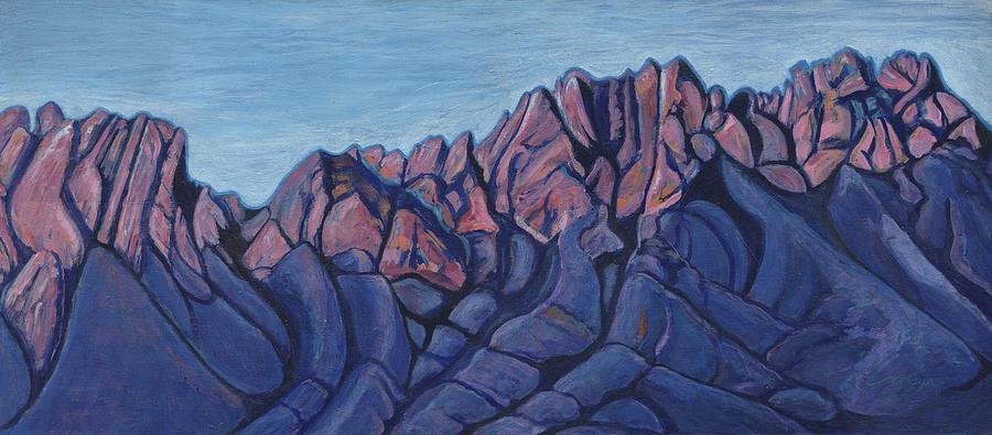 Organ Mountains East Painting by Illusions Maya