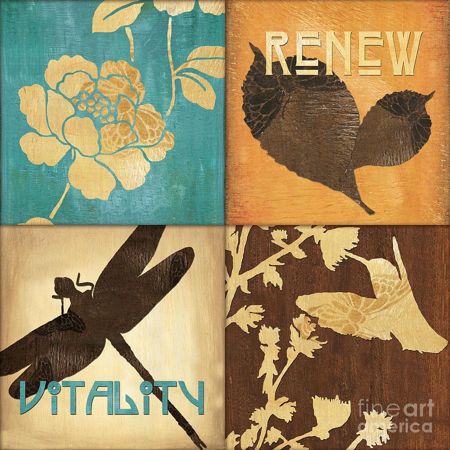 Leaves Painting - Organic Nature 4 by Debbie DeWitt